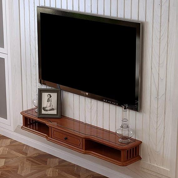 YAXIAO Consola Multimedia de Pared for Reproductor de DVD BLU-Ray, Soporte de TV, Caja de TV satelital, decodificador de Cable, Unidad de TV, Marco Flotante Estante de Pared: Amazon.es: Hogar