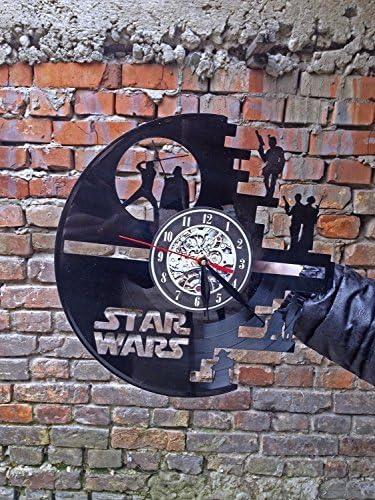 Meet Beauty Ding Star Wars Horloge Murale en Vinyle Disque Moderne Grand Darth Vader Classique Vintage 12 Cercle-Unique Cadeau No/ël