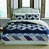 100 cotton quilts - Keeco Luxury 100% Cotton Veronica Patchwork Quilt Set, Full/Queen
