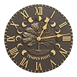 Whitehall Products Times and Seasons Clock, French Bronze