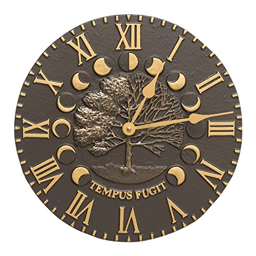 Whitehall Products Times and Seasons Clock, French Bronze by Whitehall
