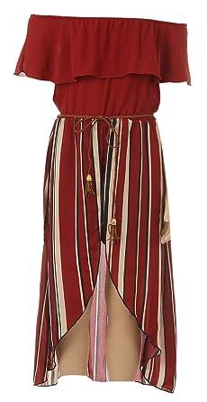 84a2f8716ee BluNight Collection Little Girls 2 Ways Ruffle Hi Lo Maxi Skirt Romper Belt Jumpsuit  Romper USA
