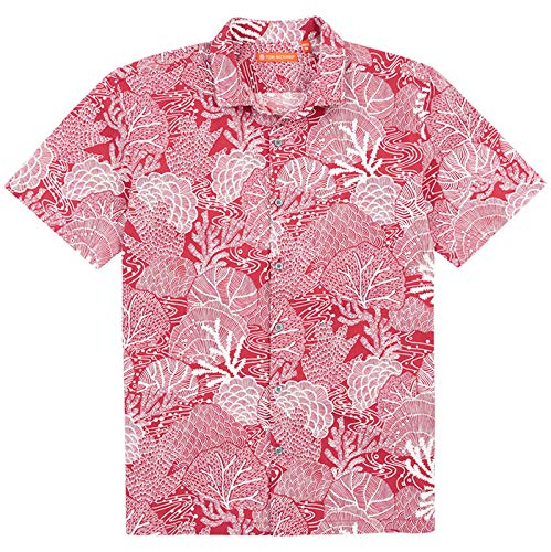 Rose Red Tori Richard Pearl Diver Standard Fit Camp Shirt