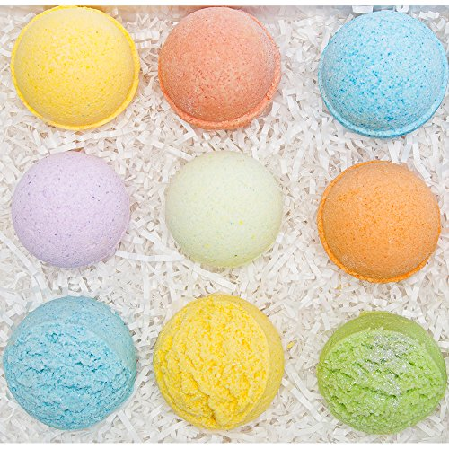 Bath Bombs & Bubble Bath Scoop Gift Set For Women. Perfect Birthday Gift For Kids, Her/Him, Teens, Moms, Ultra Moisturizing Spa Fizzies For Relaxation, 4.5 OZ Charlene New York