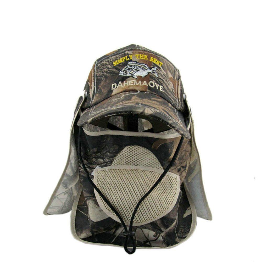 Vissen Pescaアウトドアスポーツ釣りキャップハイキングバイザー帽子UV保護面ネックカバー釣り釣りのSun Protcetキャップ B073GW8JD9