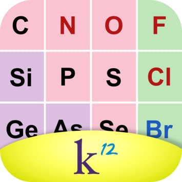 Amazon k12 periodic table of the elements appstore for android k12 periodic table of the elements urtaz Choice Image