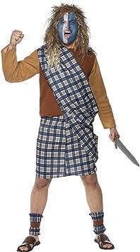 NET TOYS Traje de Guerrero escocés Braveheart Disfraz Combate ...