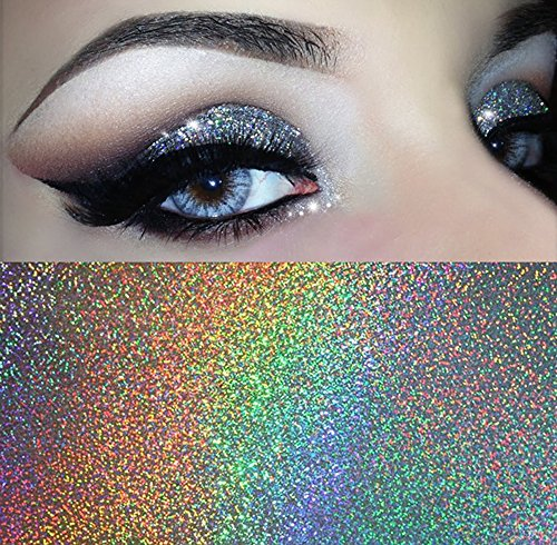 6 Color Holographic Eyeshadow Body Glitters with Adhesive Primer by Pinky Petals