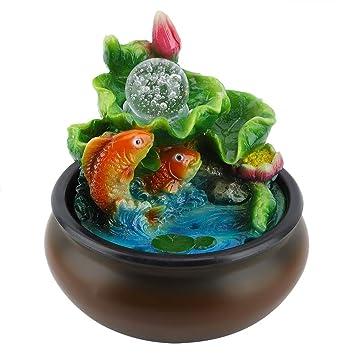Fuente de agua de mesa,fuente de escritorio portátil Mini Feng ...