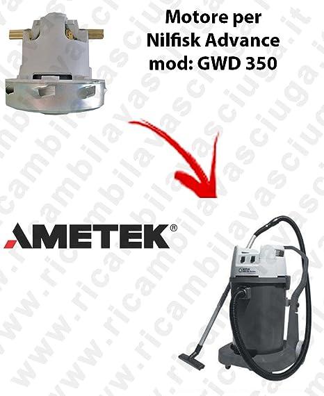Motor ametek de aspiración para aspiradora Nilfisk Advance GWD 350 ...
