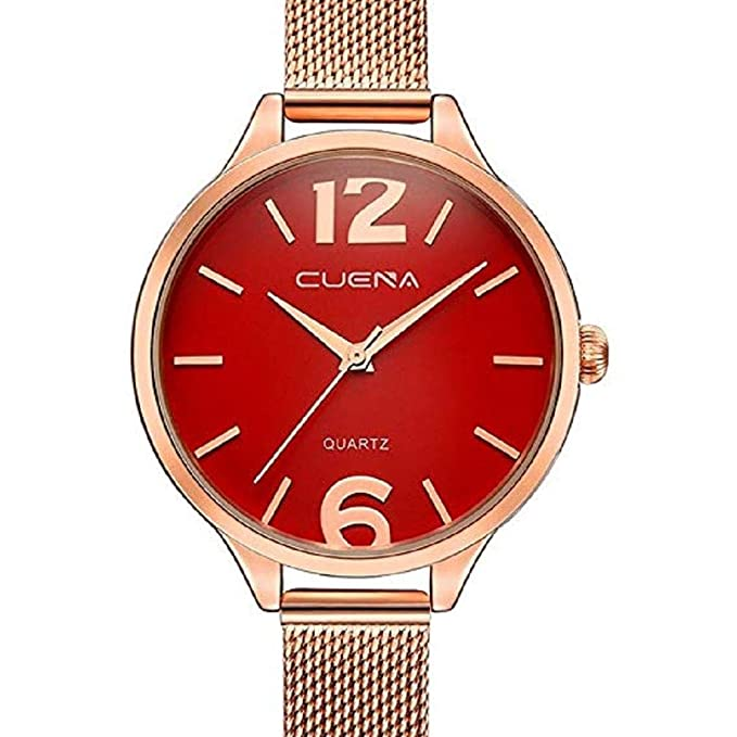 ScpinkRelojes de Cuarzo para Mujeres, Liquidación Relojes para Mujeres Relojes analógicos Correa de Malla de Acero Inoxidable Reloj de Regalo (Negro): ...