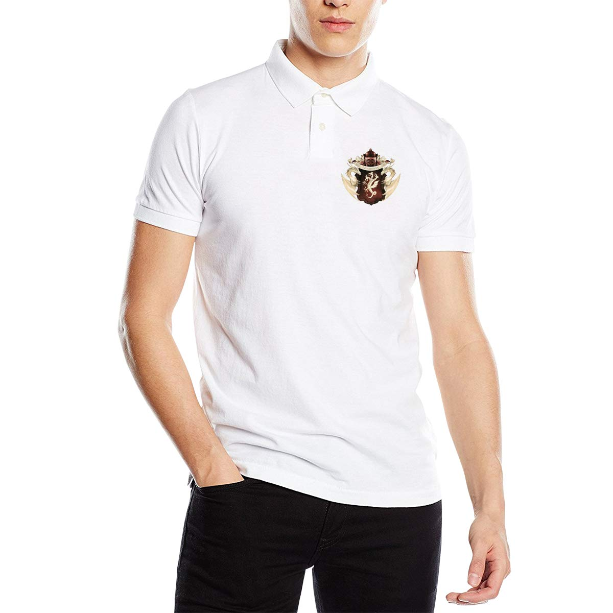 XINTAI New Personalized Game of/_THR/_Ones Targaryen Dynasty Polo T-Shirt Short Sleeve for Man Black