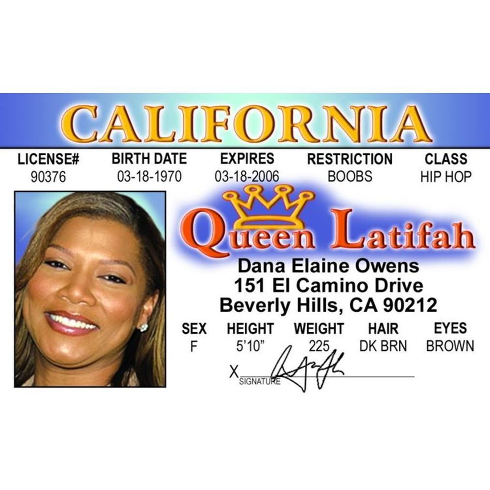 Signs 4 Fun Nqlid Latifahs Drivers License