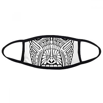 Indio Abstracto Totem Totem Pole de dibujo cara máscara antipolvo anti frío máscara regalo: Amazon.es: Deportes y aire libre