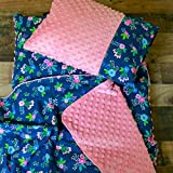 Floral Navy Nap Mat for Toddler Girl Kindermat Cover with pillowcase Blanket Preschool Daycare