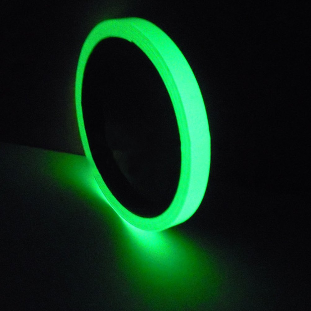 Pizies Luminous Tape Sticker,Removable Waterproof Glow in the Dark Green Light Safety Tape,3m