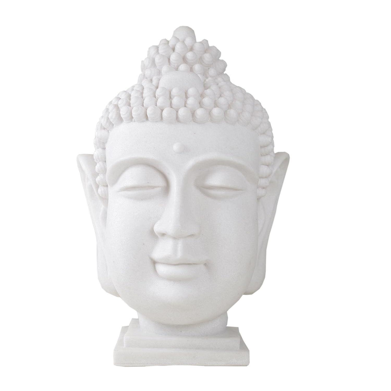 1 x x x Lampe Buddhakopf Polyresin Fiberglas creme E14 Fassung inkl. Leuchmittel, Indoor, Outdoor, Garten, Haus 11feb1