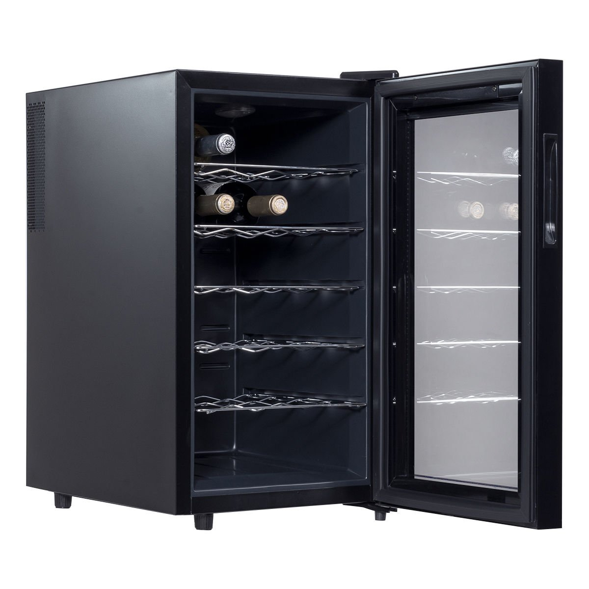 Costway Thermoelectric Wine Cooler Freestanding Cellar Chiller Refrigerator Quiet Compact w/ Touch Control (18 Bottle) by COSTWAY (Image #3)