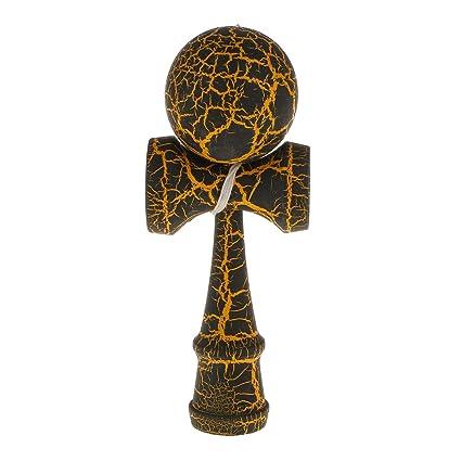 1× Holzspielzeug Kugelfangspiel Kendama Ball japanische Geschicklichkeitsspiel