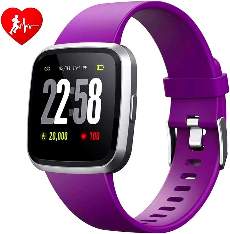 H4 Fitness Health 2in1 Smart Watch for Women with Activity Tracker All-day Heart Rate Blood Pressure Sleep Monitor Touch Screen Waterproof Running Sports Watch Compare with Android & iOS phones