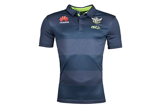 Canberra Raiders NRL 2018 - Polo de Rugby Joueurs - Marine/Envy - Taille L judpPdaG