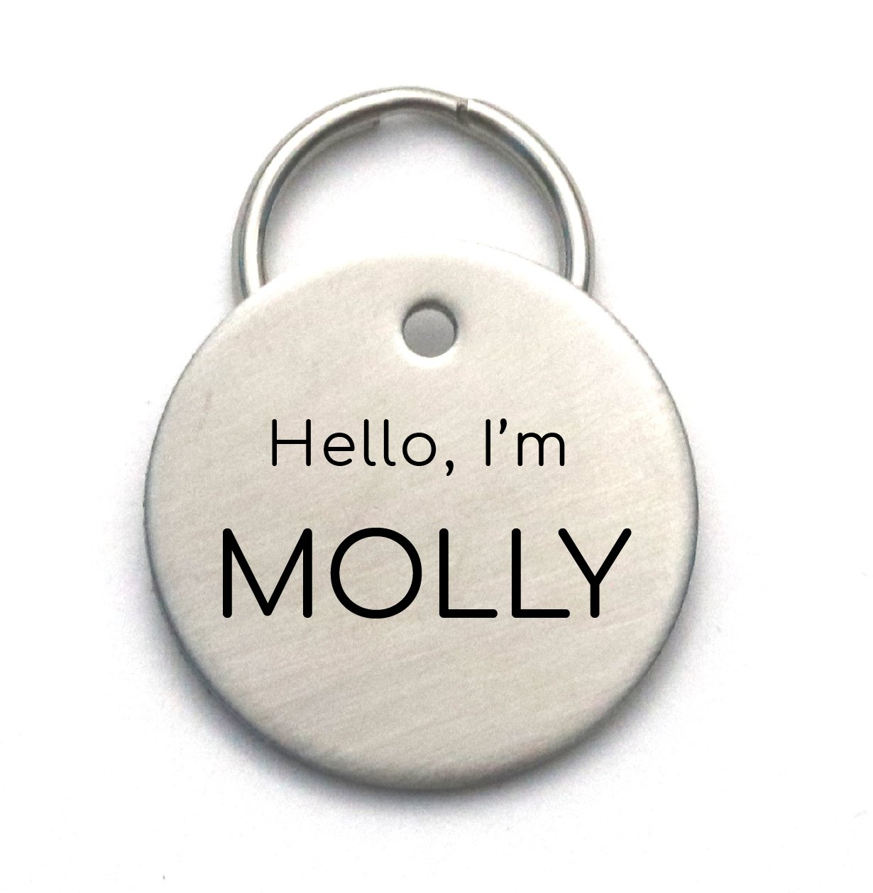 Simple Engraved Tag, Cute Customized Stainless Steel Dog ID