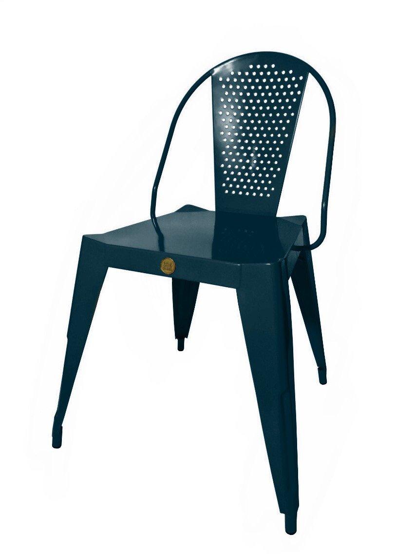 316 PARIS Silla Bistrot Design Acero Inoxidable - Color Gris ...