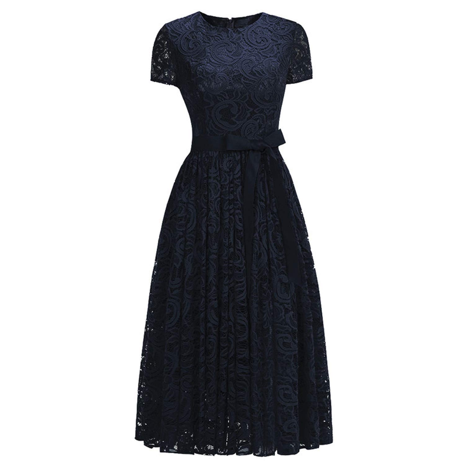 Navy bluee Sexy Elegant Pink Lace Short Evening Dress Cap Sleeve A line Evening Gown Party Dress