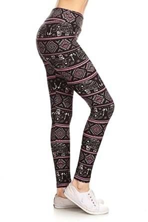 6f6da33bf781 Leggings Depot Yoga Waist REG/Plus Women's Buttery Soft Leggings at ...