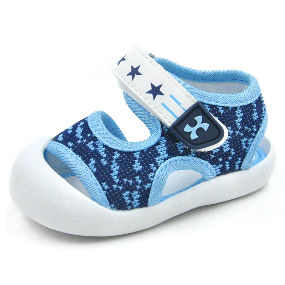 QGAKAGO Toddler Baby Boys or Girls Breathable Mesh Running Sneakers Summer Sandals (3.5 M US Toddler, Blue)