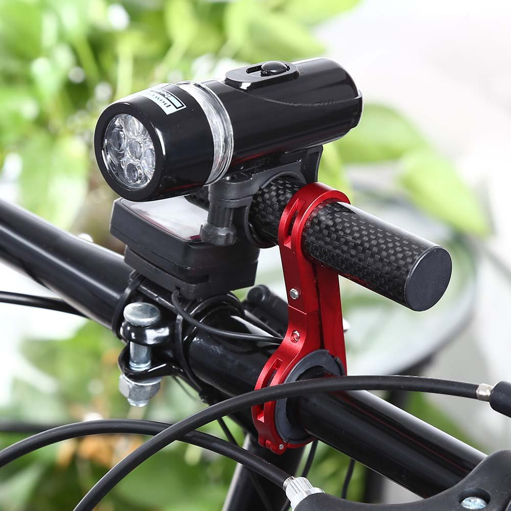 Isuper Al Aire Libre MTB Soporte de Linterna Soporte de Manillar de Fibra de Carbono de Bicicleta