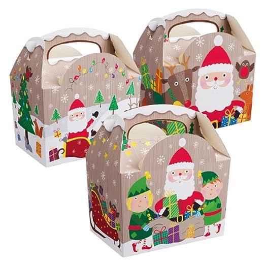 16 x para niños de Navidad - cajas de comida de Navidad ...