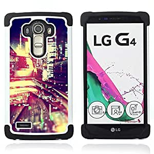 - night city lights blur life buildings street - - Doble capa caja de la armadura Defender FOR LG G4 H815 H810 F500L RetroCandy