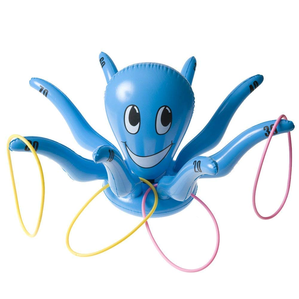 Sunshine D Inflatable Octopus Spider Rings Toss Toys Halloween Christmas Funny Sports Toys for Kids Party School Festival Outdoor Indoor Games Black HDMI SM Toss Game