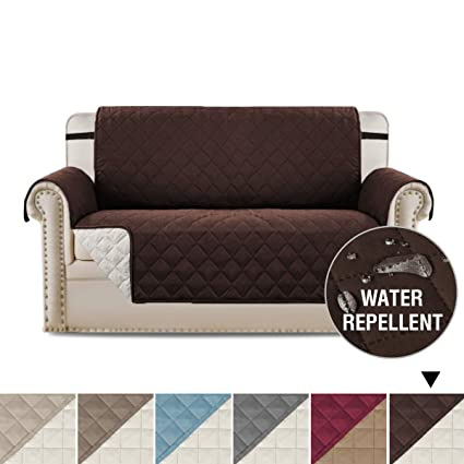 Amazon.com: Water Repellent Reversible Loveseat Covers for Dogs ...