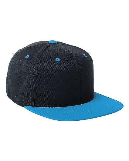 8b3641c7367 Amazon.com  Flexfit 110FT One Ten Snapback Two-Tone Hat Black Teal ...
