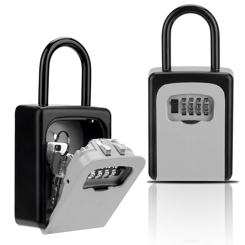 Key Lock Box, Combination Lockbox with Code for House Key Storage, Combo Door Locker by Buteny