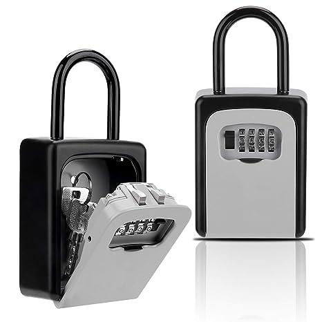 Key Lock Box, Combination Lockbox with Code for House Key Storage, Combo  Door Locker