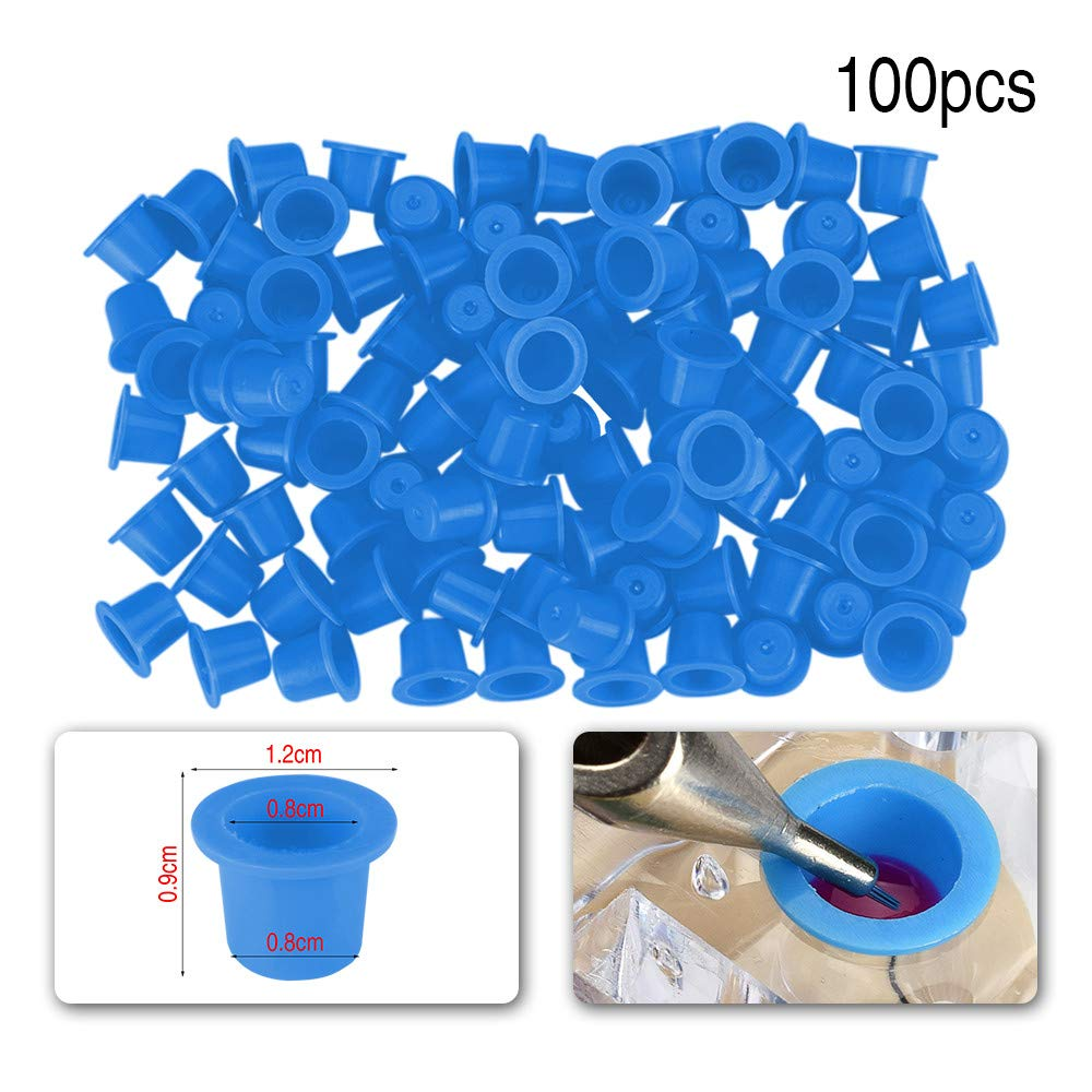 100/500/1000pcs Small Tattoo Ink Cups Disposable Tattoo Pigment Ink Caps for Tattooing Mixed Tattoo Ink