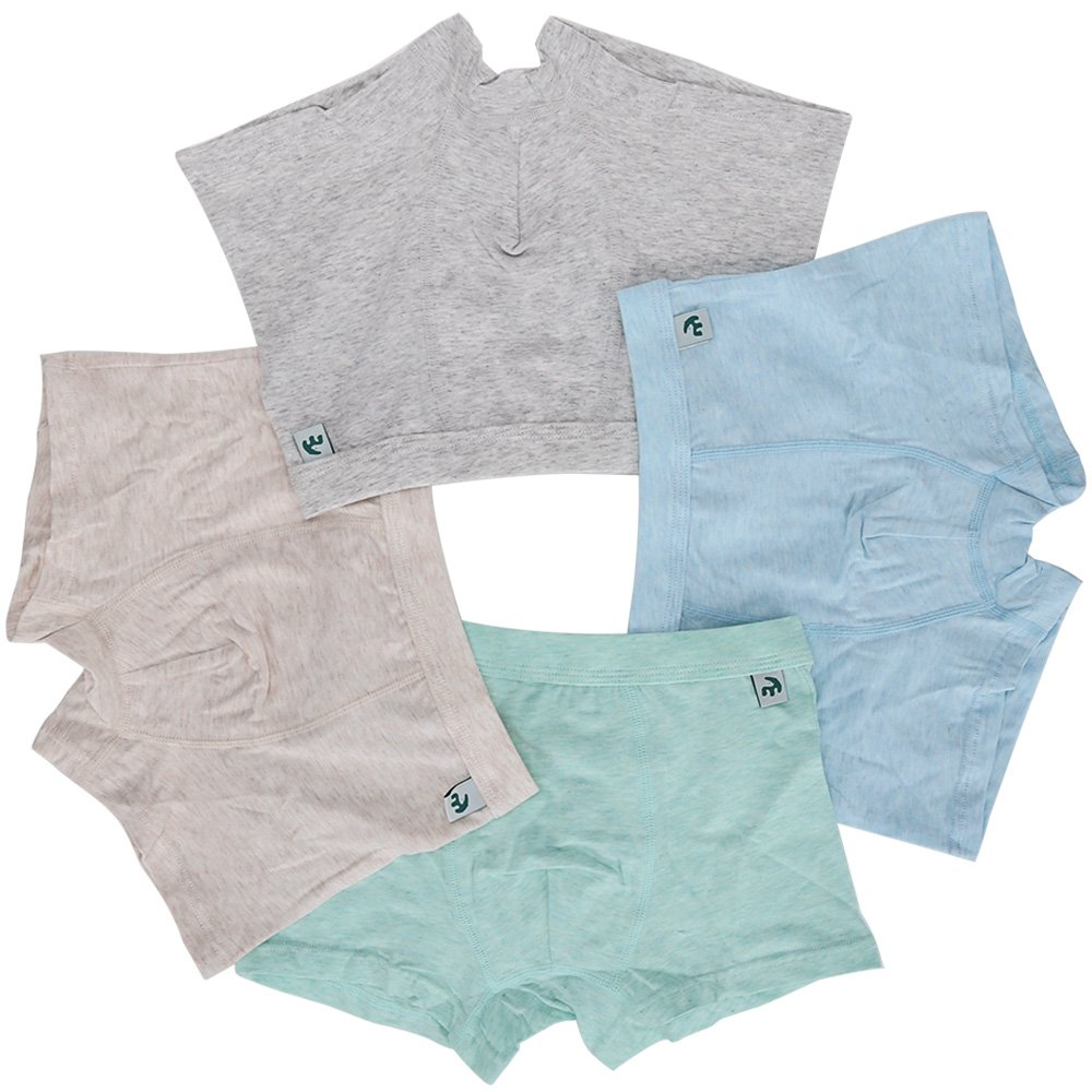 KiMiSUGOi Boys Boxer Briefs of 4 Comfortable Boys Cotton Underwear