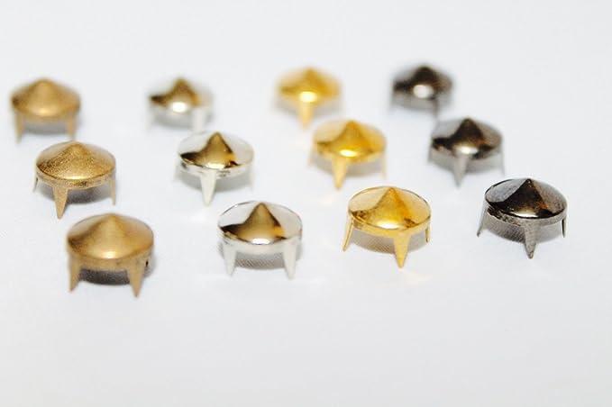 bronze 8/MM MESSING Punk Nieten Kegel Nieten/ metall /Perfekt f/ür Tasche Kleidung oder Leder Basteln niedrige Konus von Hochzeit Decor UK 50 St/ück