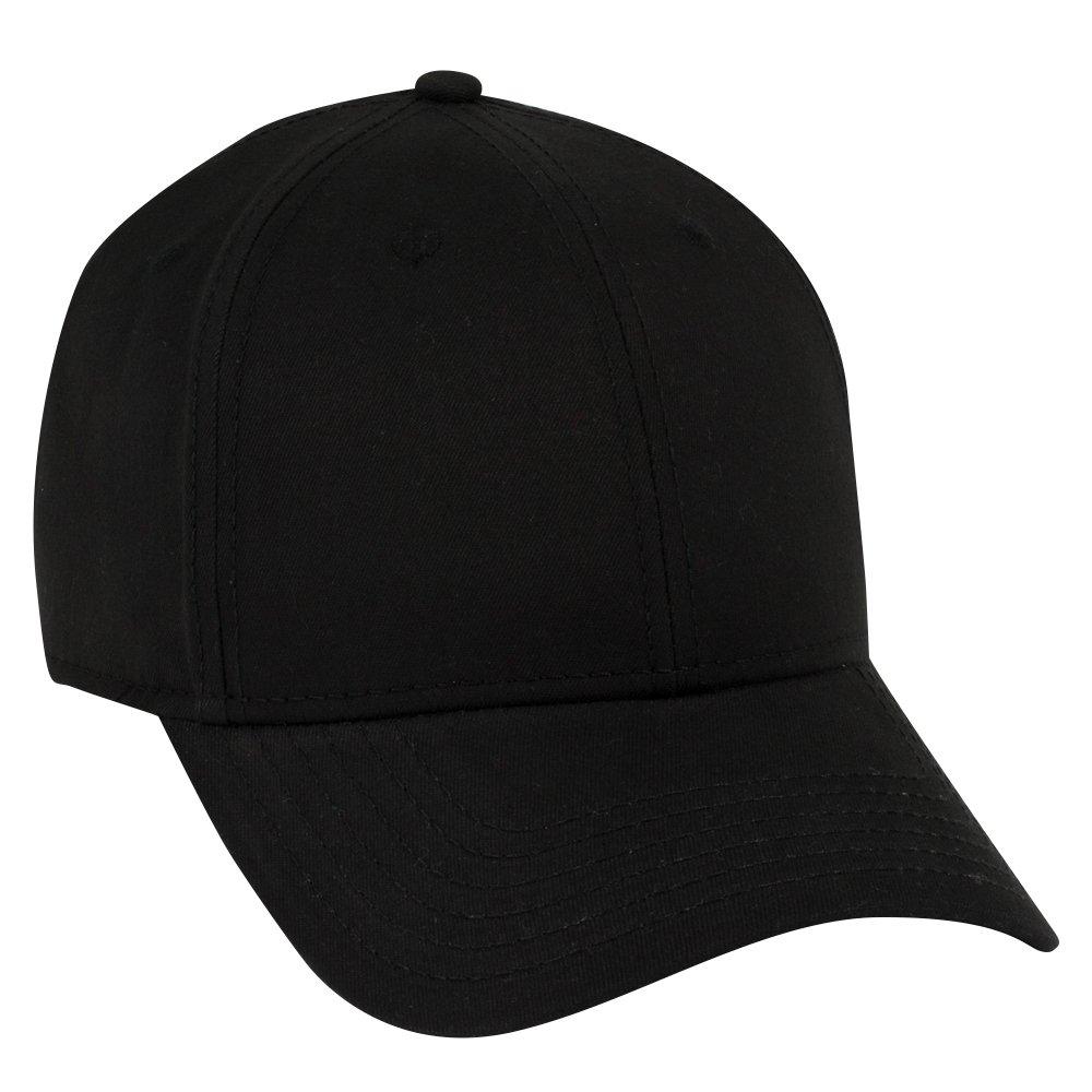 Otto Caps OTTO Ultra Fine Brushed Cotton Twill 6 Panel Low Profile Baseball Cap - Black