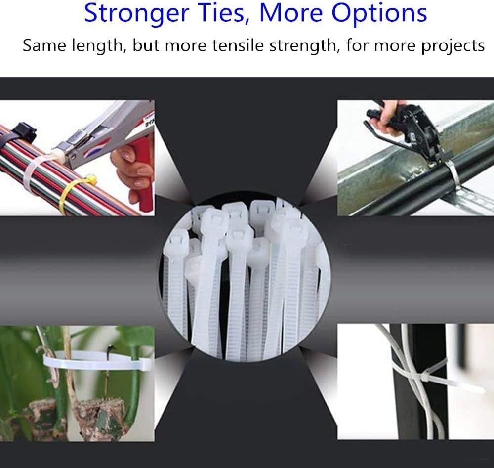 200mm x 2.5mm High Quality Nylon Zip Ties by NIAGUOJI 150 Pack of Black Cable Ties 8 Premium Tie Wraps