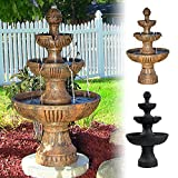 Sunnydaze Flower Blossom 3-Tiered Electric Water Fountain - Color Options May Be Available
