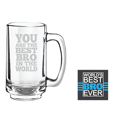 Buy YaYa CafeTM Anniversary Birthday Gifts For Brother Best Bro In The World Beer Mug Playboy 357 Ml Coaster Gift Combo Of 2 Online At Low Prices India