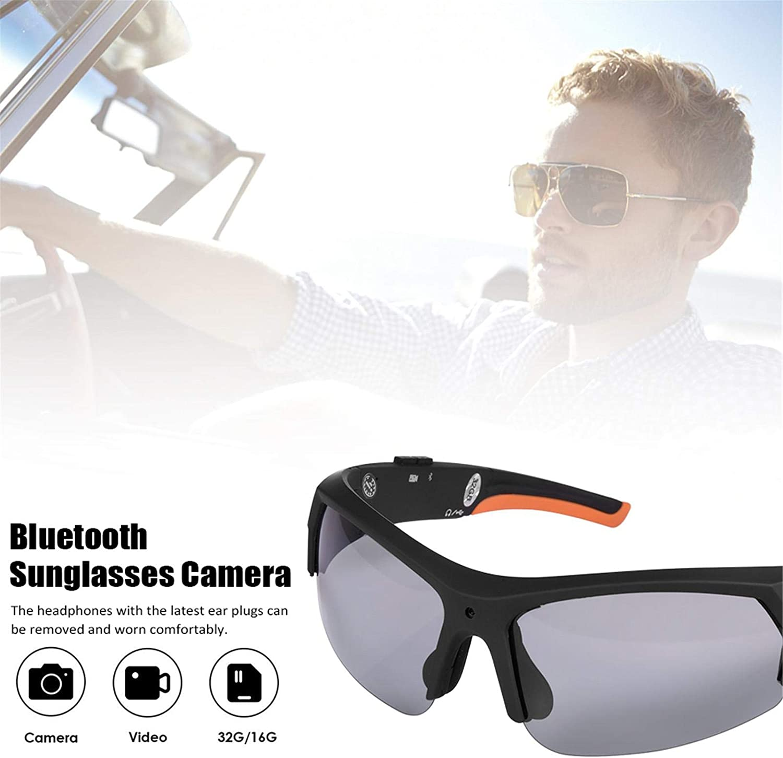 c/ómoda c/ámara deportiva 1080P HD port/átil grabadora de v/ídeo para escalada al aire libre C/ámara de gafas de sol con Bluetooth