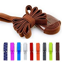 Elastic No Tie Shoe Laces, Replacement Shoelaces, Flat Elastic Shoe Laces for Running, Athletic, Mens, Womens, Kids