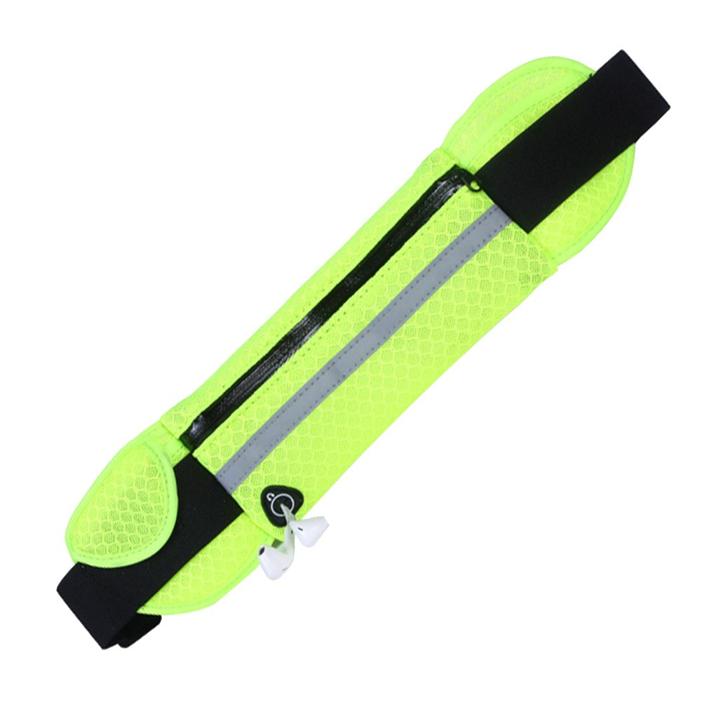 Waist Pack Belt Pouch Waistband Cell Phone Sports Fitness Bag Breathable Reflective Zipper Pocket