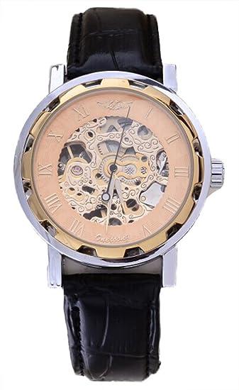 Chariot Trading – hombres de negocios moda mano viento mecánico muñeca relojes pulsera reloj correa de
