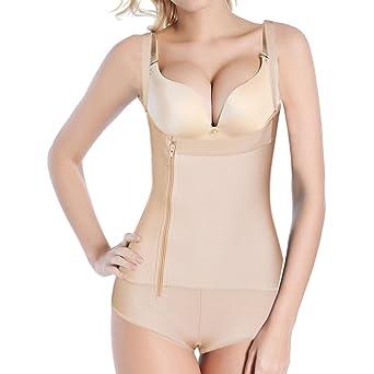 Shymay Women's Full Body Girdle Compression Clip&Zip Tummy Control Body Shapewear by Shymay